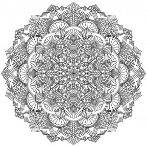 Intricate Black Mandala