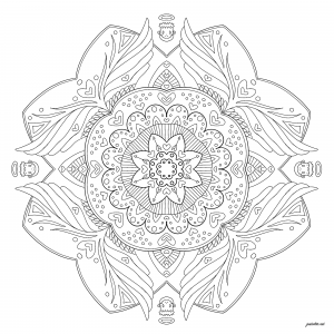 Mandala with little angels