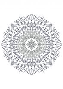 Coloring mandala zen antistress 7