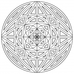 coloring-mandala-concentric-lines