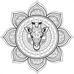 Mandala with Giraffe