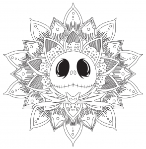 A Mandala Inspired By The Nightmare Before Christmas And His Main Character