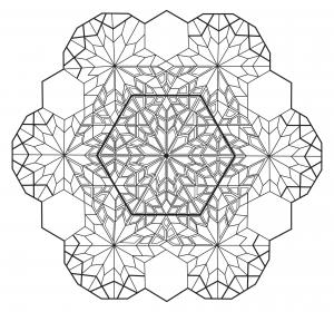 coloring mandala zen antistress 4