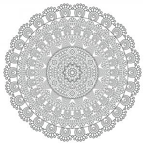 coloring mandala zen antistress 5