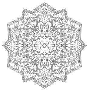 coloring mandala zen antistress 6