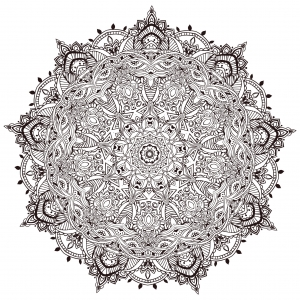 Coloring page Very detailled mandala by Anvino