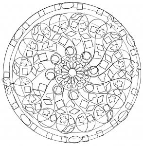 coloring-page-adult-domandala-mandala-symbols free to print