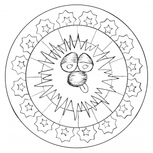 coloring-page-adult-funny-head-mandala