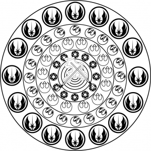 coloring-page-adult-mandala-star-wars-by-allan free to print