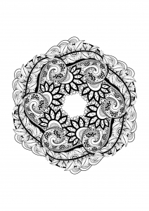 Coloring page adults mandala 1
