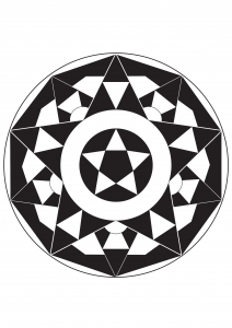Coloring page adults mandala star