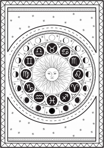 Coloriage signe astrologique par louise copie