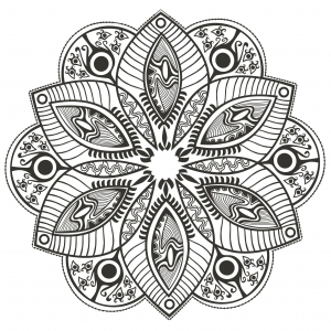 Coloring page mandala Original Flower by markovka