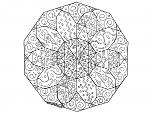 Coloring page mandala abstract