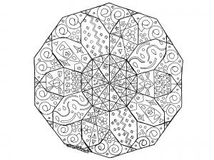 coloring page mandala abstract