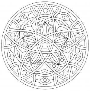 coloring page mandala harmony
