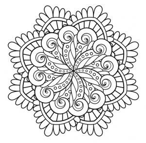 Coloring page mandala immortality