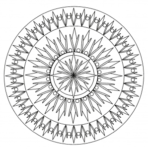 coloring page simple mandala 2