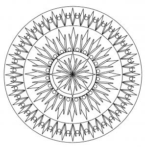 coloring page simple mandala 2