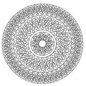 coloring page simple mandala 3
