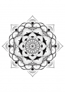 Coloring pages flower mandala by louise