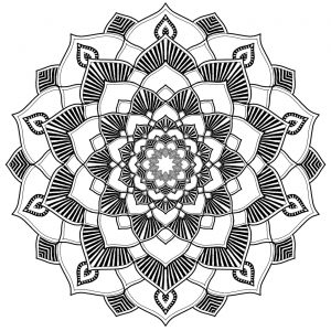 Soothing Mandala with harmonious patterns