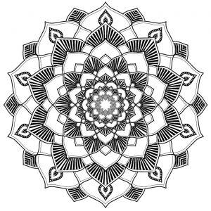 Soothing Mandala with harmonious patterns