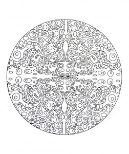 Free mandala to color : aqua