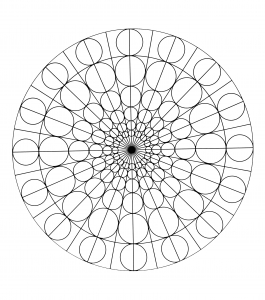 Free mandala to color : circles