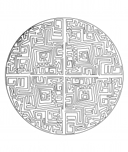 Free mandala to color : maze