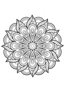 Mandala from free coloring books for adults - 1
