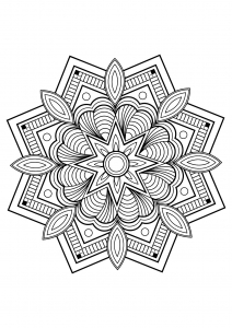 Mandala from free coloring books for adults - 10
