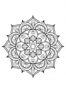 Mandala from free coloring books for adults - 11