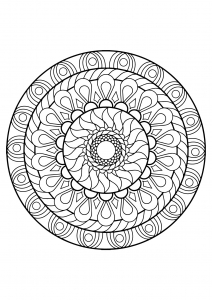 mandala from free coloring book for adults 12