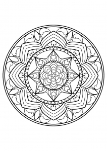 mandala from free coloring book for adults 13