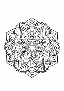 mandala from free coloring book for adults 15