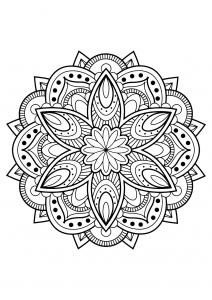 Mandala from free coloring books for adults   16