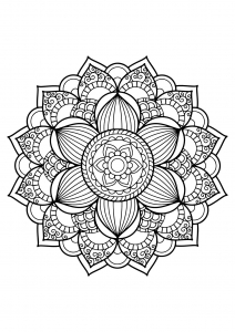 Mandala from free coloring books for adults   17