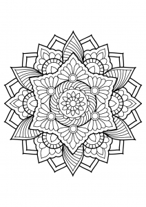 Mandala from free coloring books for adults - 18