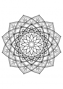 Mandala from free coloring books for adults - 19