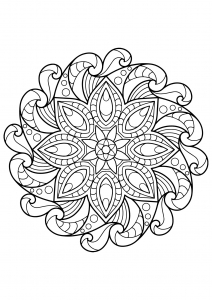 Mandala from free coloring books for adults - 2