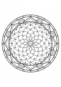 Mandala from free coloring books for adults   20