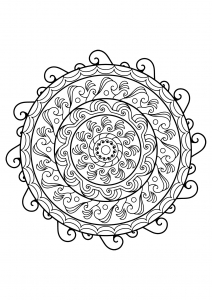 Mandala from free coloring books for adults   21