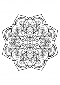 Mandala from free coloring books for adults   22
