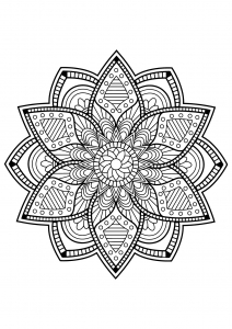 Mandala from free coloring books for adults   24