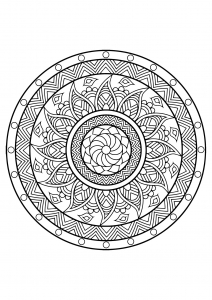 Mandala from free coloring books for adults   25
