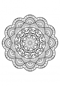 Mandala from free coloring books for adults - 26