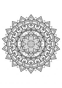 Mandala from free coloring books for adults   29