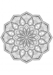Mandala from free coloring books for adults - 3