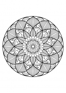 Mandala from free coloring books for adults   30